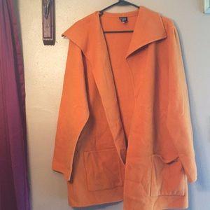 Eileen Fisher orange Medium coat wool cashmere